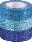Sada samolepicích papírových washi pásek Heyda - odstíny modré