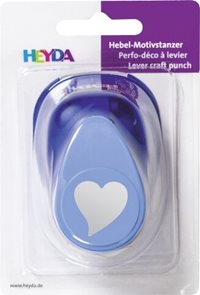 Ozdobná děrovačka na papír Heyda, 25 mm - Srdce