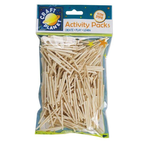 Dřevěné sirky bez hlaviček - natural