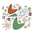 Vyřezávací kovové šablony Thinlits - Atomové prvky ( 25 ks )