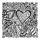 CERNIT polymerová textura - srdce