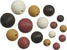 Dřevěné korálky, mix - bílá, černá, hnědá (20 ks)