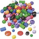 Dřevěné korálky, mix barev a tvarů (150 g)