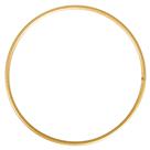 Kovový kruh, průměr 10 cm - zlatý