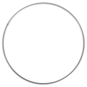Kovový kruh, průměr 25 cm - stříbrný