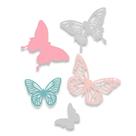 Kovové vyřezávací šablony Thinlits - Motýlci ( 5 ks)