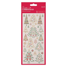 Docrafts Vánoční samolepky, glitrové - Vánoční stromečky