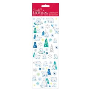 Docrafts Vánoční samolepky - Vánoce a lední medvědi