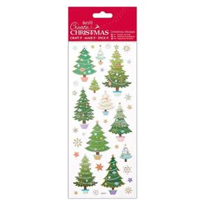 Docrafts Vánoční samolepky - Vánoční stromečky