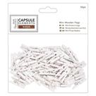 Mini dřevěné kolíčky - bílé (50 ks)