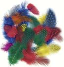 Dekorativní peříčka 1g - kropenatá, mix barev