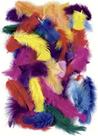 Dekorativní peříčka 100g, mix barev