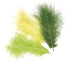 Dekorativní peříčka Marabu 4 g - odstíny zelené