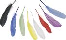 Dekorativní peříčka husí 8 ks, mix barev