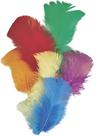 Dekorativní peříčka krocaní 16 ks, mix barev