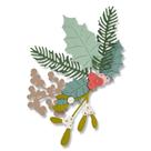 Kovové vyřezávací šablony Thinlits - Zimní listí (8ks)