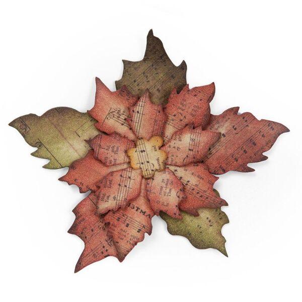 Vyřezávací šablona Bigz - Vánoční hvězda Poinsettia