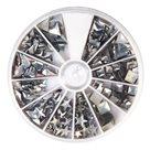 Nažehlovací nýty Rayher Hotfix - stříbrné, 2,5-10 mm ( 420ks )