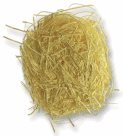 Dekorativní tráva z papíru - 30 g - žlutá