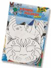 Papírové masky pro následnou dekoraci - pes, kočka, kůň, slon, zajíc, drak