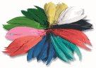 Indianská barevná pera - 10-20 cm, 100 g