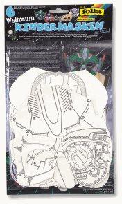 Papírové masky - sada - 6 ks - VESMÍR