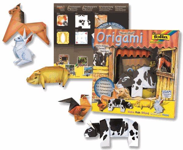 Origami - sada na výrobu domácích zvířat