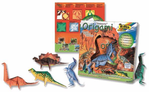 Origami - sada na výrobu dinosaurů