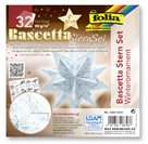 Bascetta - hvězda, 90 g/m2 - bílá/ledová modrá