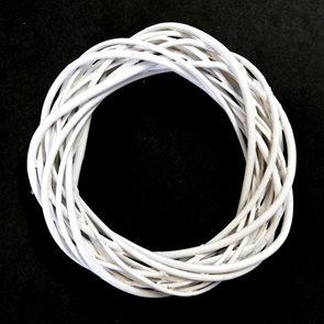 VĚNEC proutěný bílý, 20 x 5 cm