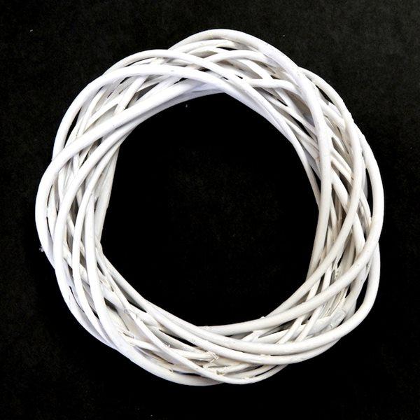 Levně VĚNEC proutěný bílý, 20 x 5 cm, Sleva 17%