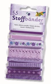 Dekorativní stužky - fialová