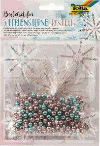 Sada na výrobu hvězd z perliček - pastelové barvy