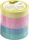 Folia Sada dekoračních lepicích washi pásek - pastelové barvy