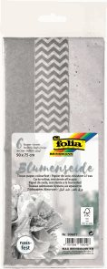 Folia hedvábný papír - stříbrný mix, 17 g/m2