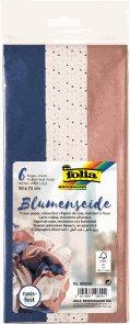 Folia hedvábný papír - modrý mix, 17 g/m2