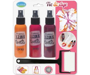 Barvy na textil IZINK - Růžová Bali - sada 3x tekutá barva, 100ml