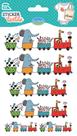 Nažehlovací nálepky na textil - Vláček s hračkami