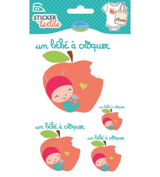 Nažehlovací nálepky na textil - Jablíčko