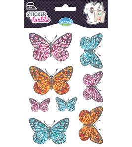 Nažehlovací nálepky na textil - Motýlci