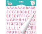 Nažehlovací nálepky na textil - Růžová abeceda