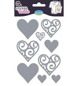 Nažehlovací nálepky na textil - Srdíčka
