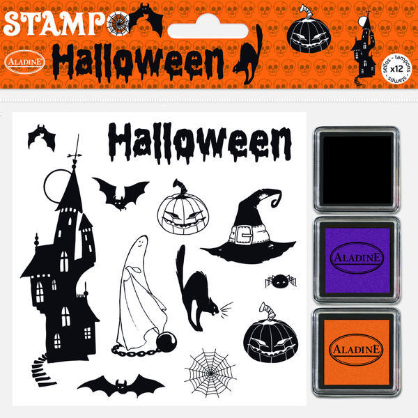 Gumová razítka - Halloween s halloweenským inkousty
