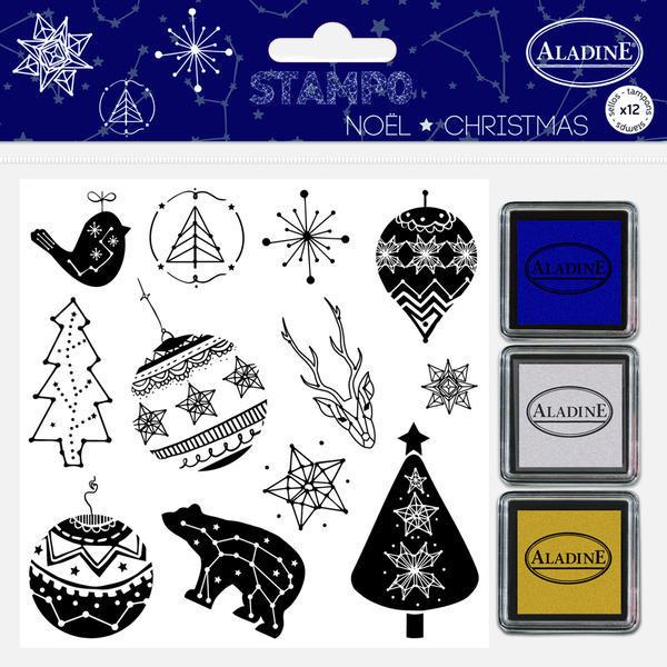 Gumová razítka - Vánoční konstalace