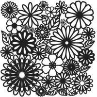 Plastová šablona - Flower Frenzy (30,5 x 30,5 cm)