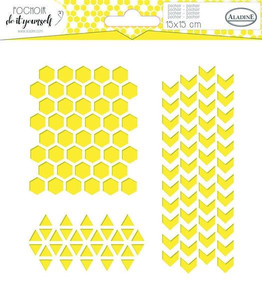 Plastová šablona - Geometrie a vzory