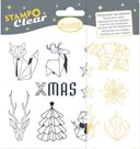 Gelová razítka - Origami Vánoce