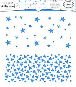 Plastová šablona Aladine - Hvězdy s trojúhelníky