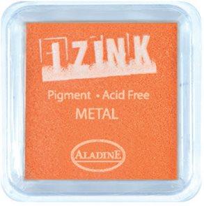 Inkoust IZINK mini, pomaluschnoucí - metalická žlutá