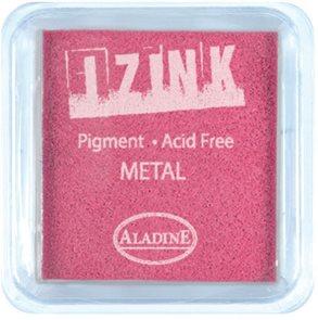 Inkoust IZINK mini, pomaluschnoucí - metalická růžová